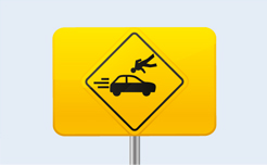 weird danger road sign