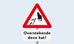weird road sign - deaf cat, Holland