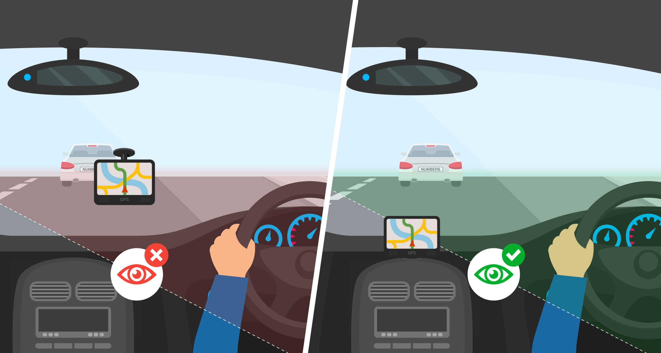 where to place your sat nav in your car the windscreen company