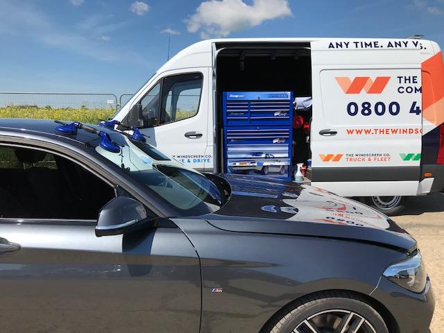 Windscreen Repair for a BMW