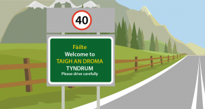 Gaelic road sign