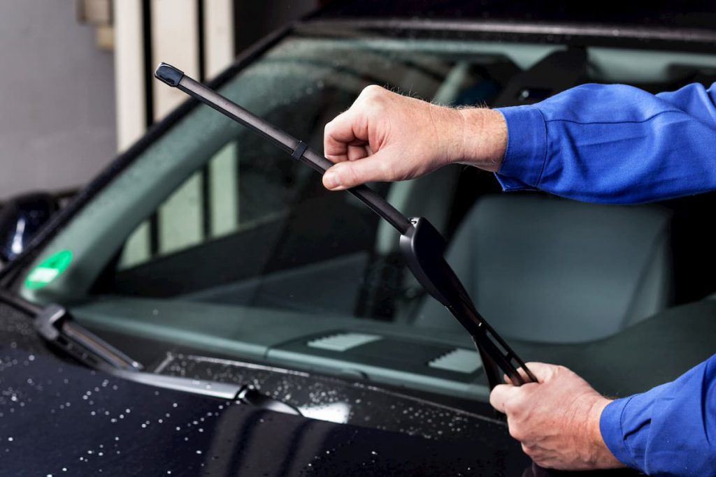 windscreen wipers checked during MOT testing