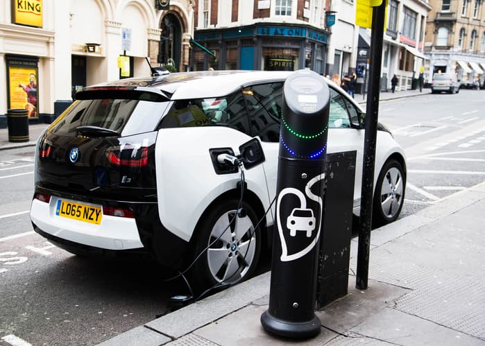 electric vehicle charging on the street