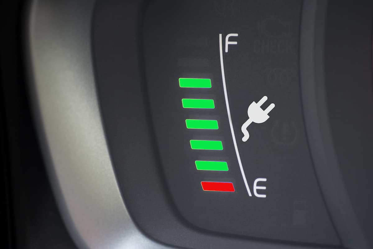 Electric or Hybrid Car - Battery Charge Indicator